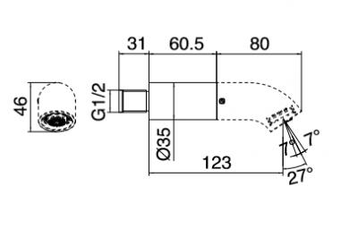 Zazzeri pop baduitloop 123mm zwart - antraciet 1208858982