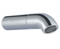 Zazzeri pop baduitloop 163mm chroom - mat zwart 1208859252