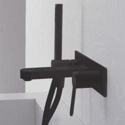 Zazzeri Trend Badmengkraan muurinbouw met handdouche mat zwart 1208889682