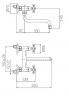 PB klassieke wandkraan met draaibare uitloop 25cm Chroom 1208910852