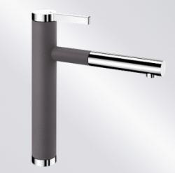 Blanco Linee-S keukenkraan rock grey uittrekbare handdouche 518804