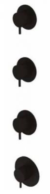 Waterevolution Flow inbouw douchethermostaat met 3 stopkranen mat zwart 1208916232