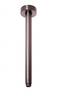 Rubio Inox douchearm plafond 300mm volledig RVS in PVD kleur Gun Metal 1208920703