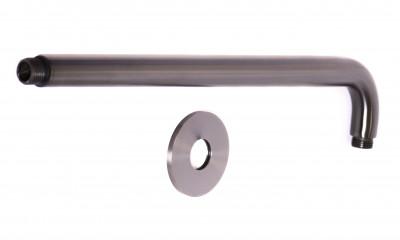 Rubio Inox douchearm 400mm RVS rond in PVD kleur Gun Metal 1208920704
