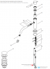 Waterevolution Flow wastafelkraan incl. click plug PVD gun metal T110GME