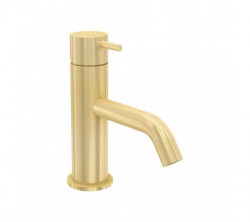 Waterevolution Flow wastafelmengkraan PVD geborsteld light gold T110WME