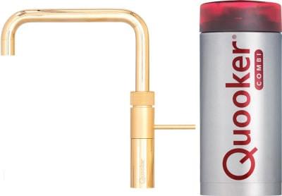 Quooker Fusion Square Verguld kokendwater kraan met COMBI+ boiler 22+FSGLD
