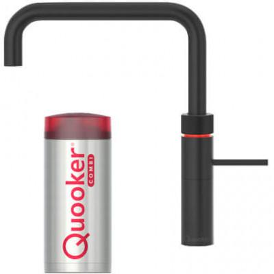 Quooker Fusion Square Zwart kokendwater kraan met COMBI+ boiler 22+FSBLK