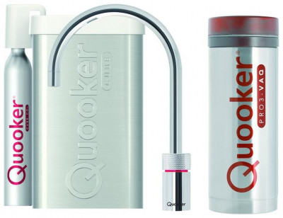 Quooker PRO3 en CUBE Nordic Round  chroom 3NRCHR CUBE