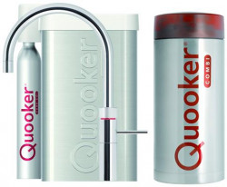 Quooker COMBI+ en CUBE Fusion Round  chroom 22+FRCHR CUBE