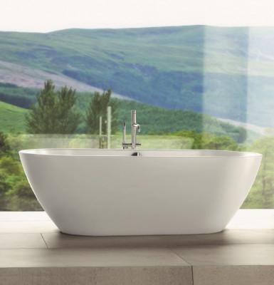 Waterevolution Flow vrijstaande badkraan met handdouche chroom T13301