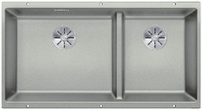 Blanco Subline 480/320-U BL - 1,5 spoelbak in parelgrijs - 523587