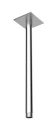 Rain plafond douche arm met vierkante rozet lengte 30 cm PVD gun metal 1208946706