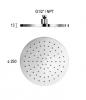 Rain Regendouche waterbesparende hoofddouche 25 cm metaal mat wit 1208946741