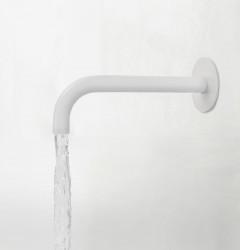 Waterevolution Flow baduitloop mat wit T167119BR lengte uitloop 19cm