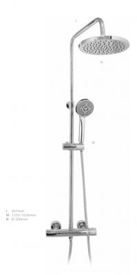 DEMM Shower douchecombinatie thermostaat met regendouche chroom 1208946965