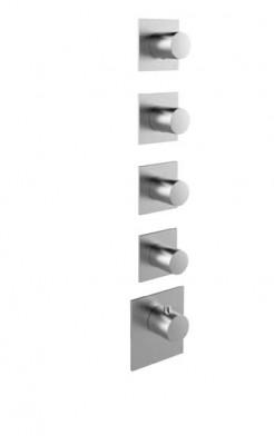 Rubio 316 High Flow Inbouw thermostaatkraan met 4 stopkranen RVS 1208947017