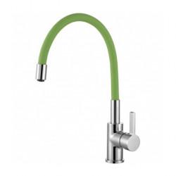 DEMM keukenkraan met draaibare uitloop chroom/groen 1208947027