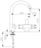 DEMM thermostatische keukenkraan met draaibare uitloop chroom 1208947361