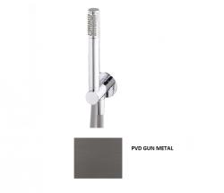 Waterevolution Flow badgarnituur compleet met muuraansluiting Gun Metal 1208948851