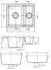 GraniteMy Bremen 1,5 granieten spoelbak omkeerbaar zwart opbouw onderbouw en vlakbouw 1208952250