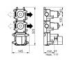 SB Universale inbouwdeel thermostaatkraan met 2 stopkranen