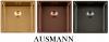 Ausmann Elbe RVS spoelbak PVD Gold 40x40 onderbouw vlakbouw en opbouw 1208952328
