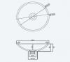 Solid-S Top opbouwwastafel rond mat wit B35xH9cm 1207917072