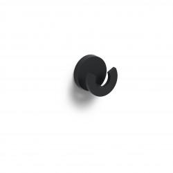 Clou Flat dubbele kledinghaak mat zwart