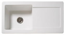 Reginox RL504CW keramische spoelbak wit met afdruipgedeelte 100x50cm 1208952820