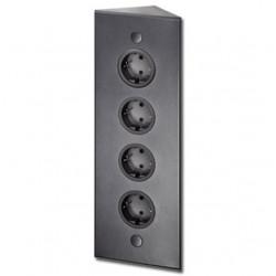 Energiezuil met 4 stopcontacten randaarde ST3007/320 zwart
