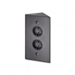 Energiezuil met 2 stopcontacten randaarde ST3007/20 zwart