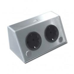 Energiezuil met 2 stopcontacten randaarde en USB lader ST3900/A