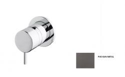 Waterevolution Flow inbouw 2-weg omsteller ronde rozet gun metal T1482S.GME