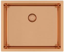 Ausmann Mosel RVS spoelbak koper kleur PVD Copper 50x40 onderbouw vlakbouw en opbouw 1208952980