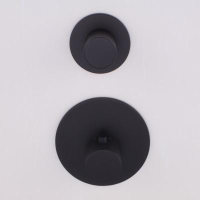 Rubio Nero High Flow Inbouw thermostaatkraan met 1 omstelkraan mat zwart 1208952986