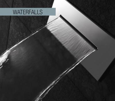 Rubio 316 inbouw waterval uitloop RVS