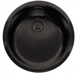 Ausmann Black ronde rvs spoelbak gootsteen mat zwart vlakbouw opbouw en onderbouw 1208953184