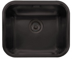 Ausmann Black rvs spoelbak mat zwart 445x393mm onderbouw opbouw en vlakbouw 1208953185