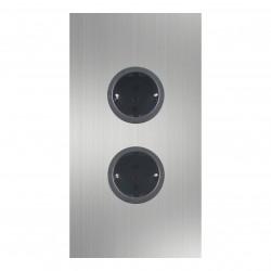 Energiezuil met 2 stopcontacten randaarde RVS 1208953213