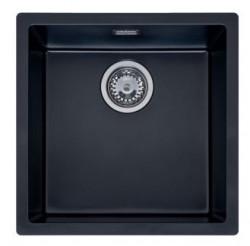 Reginox Texel 40x40 Pure Black zwarte graniet Spoelbak vlakbouw en onderbouw 1208953232