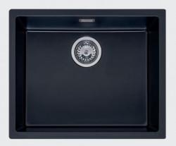 Reginox Texel 50x40 Pure Black zwarte graniet Spoelbak vlakbouw en onderbouw 1208953233