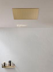 Rubio grote inbouw Regendouche plafonddouchekop 50x50cm PVD geborsteld gun metal 1208953320
