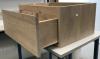 OUTLET  Badmeubel massief eiken 62,5cm met solidsurface topblad 1208953327