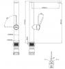 RN Inox rvs hoge keukenkraan draaibare uitloop volledig geborsteld RVS 1208953353
