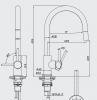 RN Inox rvs hoge keukenkraan uittrekbare draaibare uitloop volledig geborsteld RVS 1208953357