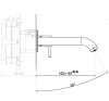 SB Round inbouw wastafelmengkraan chroom 162mm