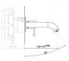 SB Round inbouw wastafelmengkraan chroom 132mm