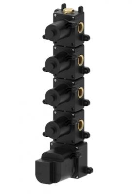 SB Universale inbouwdeel thermostaatkraan met 4 stopkranen
