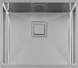Lorreine  Exclusive rvs spoelbak 45x40 cm vlakbouw onderbouw en opbouw 1208953618